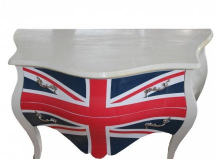 Barock Kommode Union Jack Antik Stil 100cm - Vorschau 2