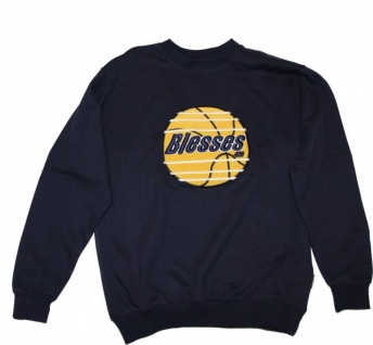 BLESSES Skateboard Sweater Blue Hip Hop Style Sweater