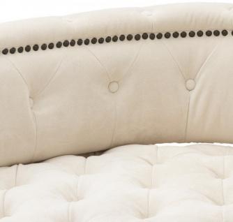Casa Padrino Luxus Barock Doppel Sitzbank Creme / Schwarz Klavierlack - Doppelsofa - Luxury Collection - Vorschau 3