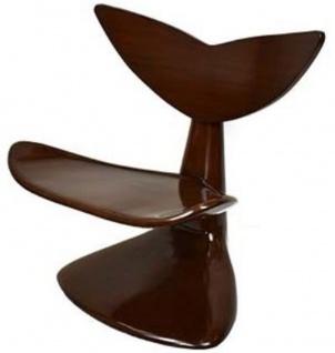 Casa Padrino Designer Mahagoni Stuhl Dunkelbraun 83 x 68 x H. 87 cm - Designermöbel - Luxus Qualität