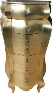 Casa Padrino Barock Kommode Gold Antik-Look 131 x 68 x 46 cm - Antik Stil
