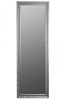 Casa Padrino Barock Wandspiegel Silber 62 x H. 187 cm - Handgefertigter Spiegel im Barockstil