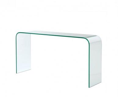 Casa Padrino Luxus Art Deco Glas Konsole 150 x 40 x H. 76 cm - Luxus Kollektion