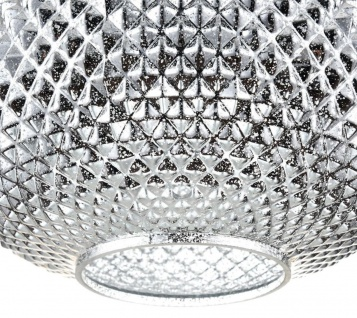 Casa Padrino Luxus Hängeleuchte Silber Ø 28 x H. 15, 3 cm - Luxus Wohnzimmermöbel - Vorschau 2