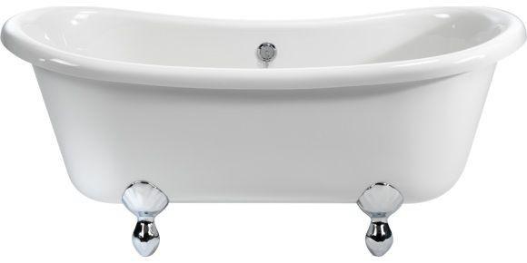 Casa Padrino Jugendstil Badewanne freistehend 1640mm BBat Weiß - Freistehende Retro Antik Badewanne - Vorschau 3