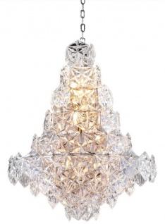 Casa Padrino Luxus Kronleuchter Silber / klares Glas Ø 60 x H. 76 cm - Hotel & Restaurant Kronleuchter - Luxus Qualität