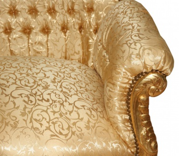 Casa Padrino Barock 2er Sofa Master Gold Muster / Gold - Wohnzimmer Couch Möbel Lounge 3