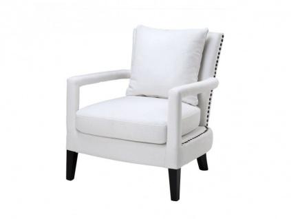 Casa Padrino Luxus Lounge Sessel Weiß - Hotel Möbel