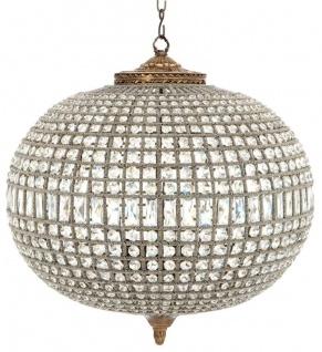 Casa Padrino Luxus Kristallglas Kronleuchter Antik Messing 70 x H. 70 cm - Luxus Kollektion