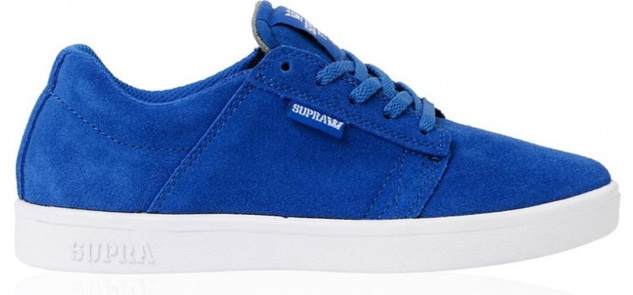 SUPRA Skateboard Schuhe Westway Kids Royal Blau/Weiß
