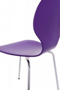 Casa Padrino Designer Stuhl Form Lila 8578 - Esszimmer Stuhl - Vorschau 5