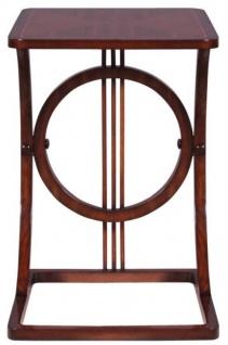 Casa Padrino Art Deco Mahagoni Snack Tisch / Beistelltisch Braun 40 ...