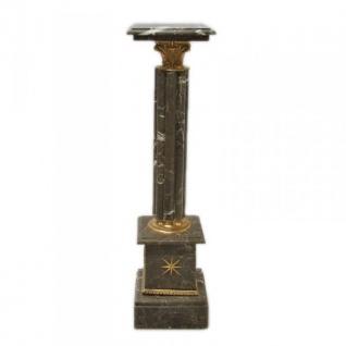 Säule aus Marmor im Barockstil Schwarz Höhe: 100cm, Breite: 30cm, Tiefe: 30 cm - Marmorsäule - Vorschau