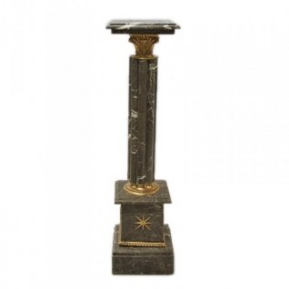 Säule aus Marmor im Barockstil Schwarz Höhe: 100cm, Breite: 30cm, Tiefe: 30 cm - Marmorsäule
