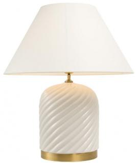Casa Padrino Tischleuchte Weiß 26 x H. 66 cm - Luxus Tischlampe