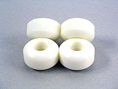 50mm Woodchuck Blank Wheels Weiß