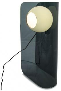 Casa Padrino Luxus Designer Tischleuchte Blau Petrol 28, 5 x 17 x H. 59 cm - Moderne Plexiglas Leuchte