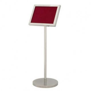 Luxus Schild Ständer Silber - ideal für Hotels, Restaurants, Cafes, Clubs, Discotheken, Messen