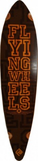 Flying Wheels Pintail Longboard Deck Braun / Orange 109 x 25.5 cm ohne Concave
