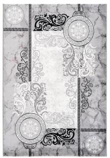 Casa Padrino Wohnzimmer Teppich Silber - Verschiedene Größen - Deko Accessoires