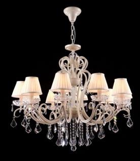 Casa Padrino Barock Kristall Decken Kronleuchter Cream Gold 92 x H 82 cm Antik Stil - Möbel Lüster Leuchter Hängeleuchte Hängelampe