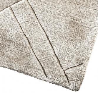 Casa Padrino Luxus Viskose Teppich Grau - Verschiedene Größen - Handgewebter Wohnzimmer Teppich - Wohnzimmer Deko - Vorschau 3
