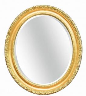 Casa Padrino Luxus Barock Spiegel Gold 54 x 6 x H. 64 cm - Ovaler Wandspiegel im Barockstil - Barock Möbel