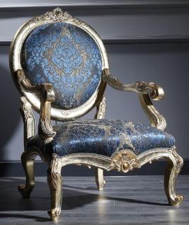85 Cm Dunkelblau X Antik Stuhl H120 Luxus 65 Barock Padrino Casa Barockmöbel Salon Gold uXkPTOZi