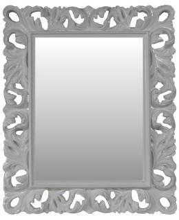 Casa Padrino Barock Wandspiegel Antik Stil Weiß 84 x 105 cm - Barocker Spiegel Antikweiß