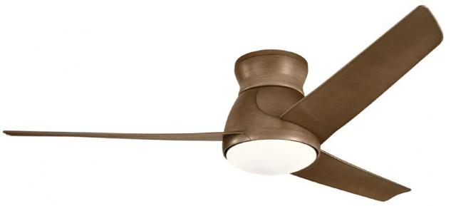 Casa Padrino Luxus Deckenventilator Braun 152 x H. 29 cm - Moderner dimmbarer Ventilator mit LED Beleuchtung und Fernbedienung - Luxus Accessoires