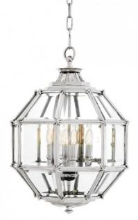 Casa Padrino Luxus Laterne - Luxus Nickel Hängeleuchte Durchmesser 43 x H 63 cm
