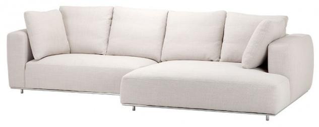 Casa Padrino Luxus Sofa Naturfarbig - Designer Ecksofa