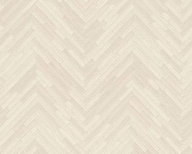 Versace Designer Barock Vliestapete IV 37051-5 Creme / Beige - Tapete mit Holzstruktur - Hochwertige Qualität