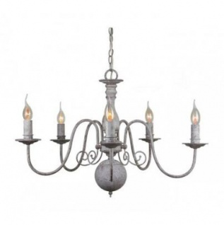 Casa Padrino Barock Decken Kronleuchter Antik Grau Durchmesser 70 x H 52 cm Antik Stil - Möbel Lüster Leuchter Deckenleuchte Hängelampe