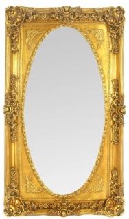 Casa Padrino Barock Wandspiegel Spiegel Gold 80 x H. 145 cm - Garderoben Spiegel - Prunkvoller Barock Spiegel mit wunderschönen Verzierungen