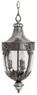 Casa Padrino Laterne / Hängeleuchte in antik silber 30 x H. 60 cm - Luxus Qualität