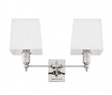Casa Padrino Luxus Wandleuchte Nickel - Luxus Leuchte - Vorschau 2
