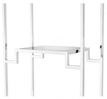 Casa Padrino Wohnzimmer Regalschrank Silber / Schwarz 45, 5 x 25, 5 x H. 221 cm - Luxus Wohnzimmerschrank - Vorschau 4