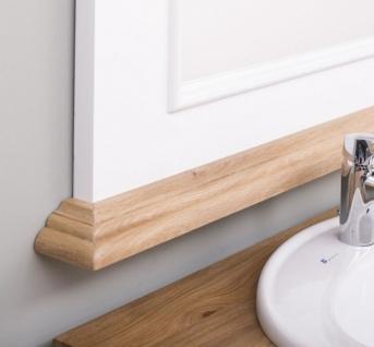 Casa Padrino Landhausstil Badezimmer Set Weiß / Naturfarben - 1 Doppelwaschtisch & 1 Wandspiegel - Massivholz Badezimmermöbel im Landhausstil - Vorschau 4