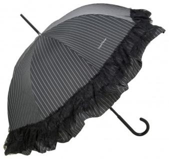 Chantal Thomass Designer Damen Regenschirm mit einer Rüschen- und Spitzenkante - Stockschirm - Elegant und Extravagant - Made in Paris