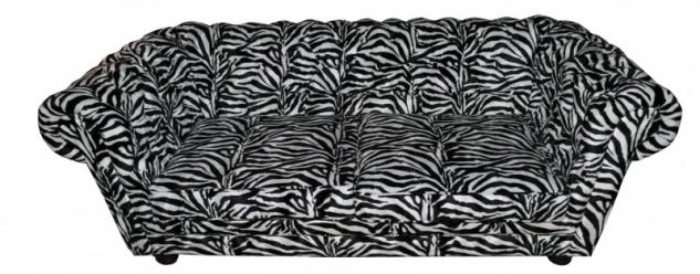 Casa Padrino Limited Edition Designer Chesterfield Sofa Zebra - Club Möbel