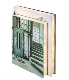 Casa Padrino Luxus Tischleuchte im Bücher Design Treppen 31 x 7, 5 x H. 26, 5 cm - LED Tischlampe