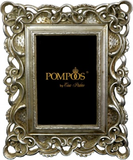 Pompöös by Casa Padrino Barock Bilderrahmen Antik Stil Silber von Harald Glööckler 25 x 20 cm - Pompööser Foto Rahmen