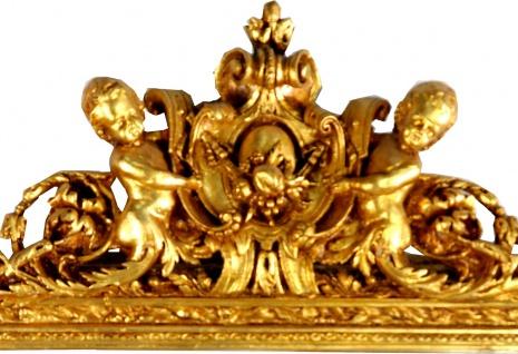 Casa Padrino Barock Wandspiegel Gold 100 x H. 186 cm - Prunkvoller Barock Spiegel mit wunderschönen Verzierungen - Vorschau 2