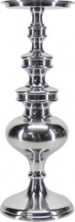 Casa Padrino Luxus Aluminium Kerzenhalter Silber Ø 13 x H. 47 cm - Deko Accessoires