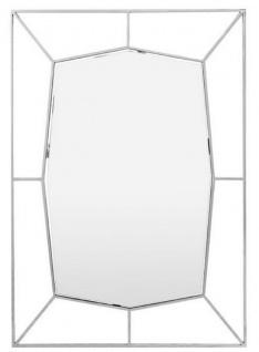 Casa Padrino Designer Wandspiegel Silber 67 x H. 100 cm - Edelstahl Spiegel - Luxus Deko Accessoires