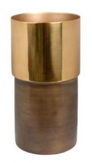 Casa Padrino Luxus Deko Vase Bronze / Gold Ø 20 x H. 35 cm - Luxus Qualität