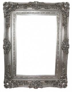 Casa Padrino Barock Wandspiegel Silber Antik-Look Höhe 130 cm, Breite 96 cm - Edel & Prunkvoll