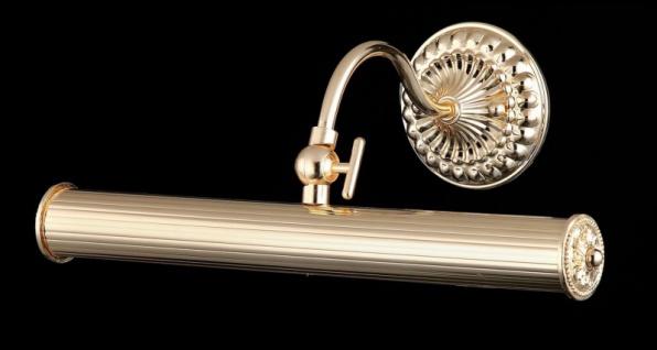 Casa Padrino Jugendstil Wandleuchte Gold 34 x H 12 cm Jugendlicher Stil - Wandlampe Wand Beleuchtung