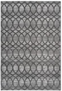 Casa Padrino Designer Teppich Schwarz / Silber - Verschiedene Größen - Wohnzimmer Deko Accessoires